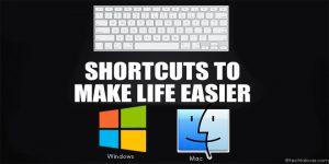 Keyboard shortcuts for windows and mac