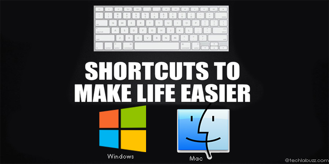 Keyboard shortcuts for windows and mac