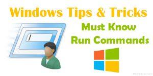 25+ Run Commands for Windows User