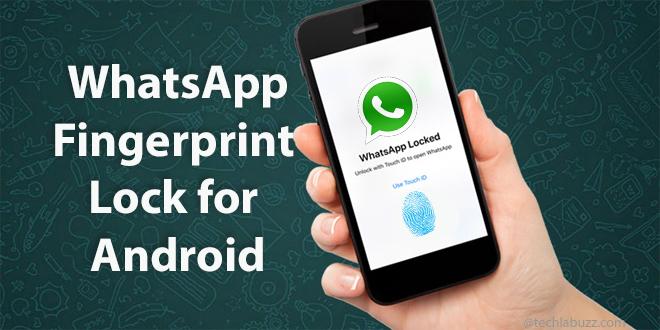 WhatsApp fingerprint lock update for Android beta