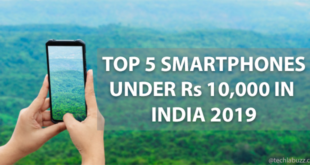Top 5 best smartphones under 10000 in India 2019