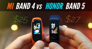 Mi Band 4 vs Honor Band 5
