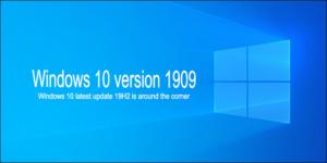 Windows 10 version 1909