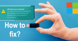 USB Device not recognized by Windows 10