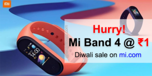 Xiaomi Mi Band 4 available for just Re 1