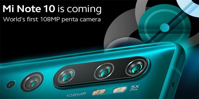 Mi Note 10 with 108MP Penta Camera