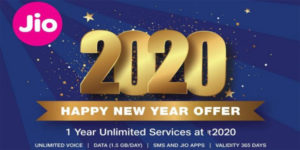 Jio 2020 Happy New Year Offer | Reliance Jio recharge plans