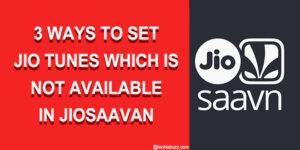 Set as Jio tune option not available in JioSaavan