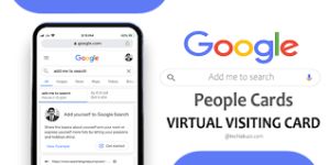 Create Virtual Visiting Cards On Google Search-People Cards