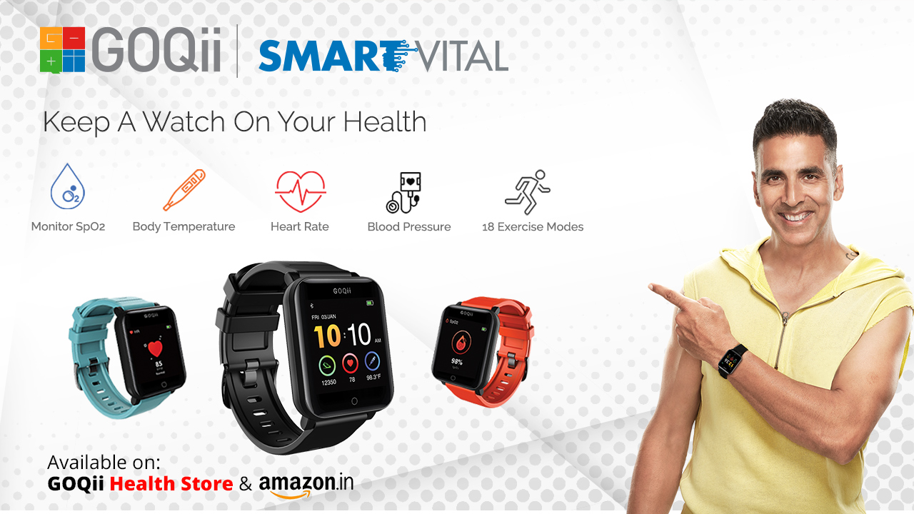 GOQii Vital 4 fitness band launched in India, with SpO2 sensor and blood pressure monitor
